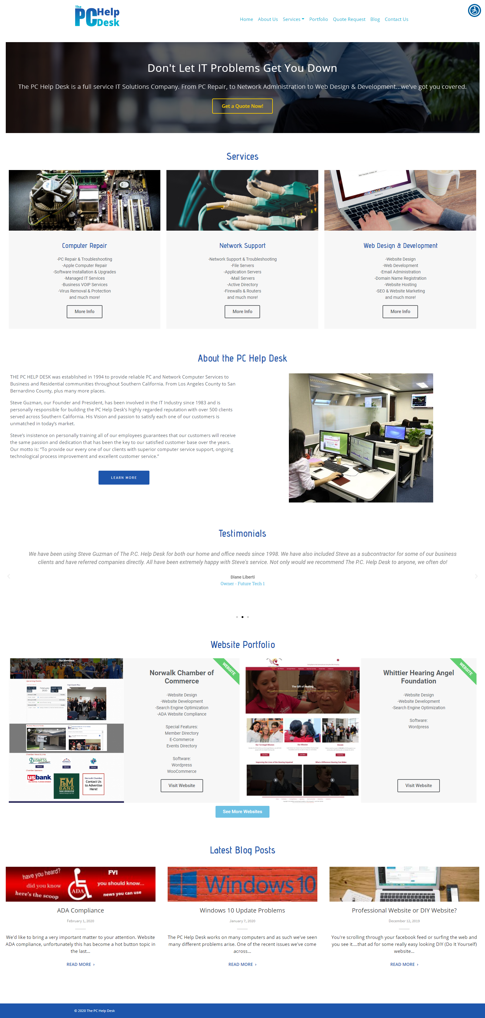 The PC Help Desk Website